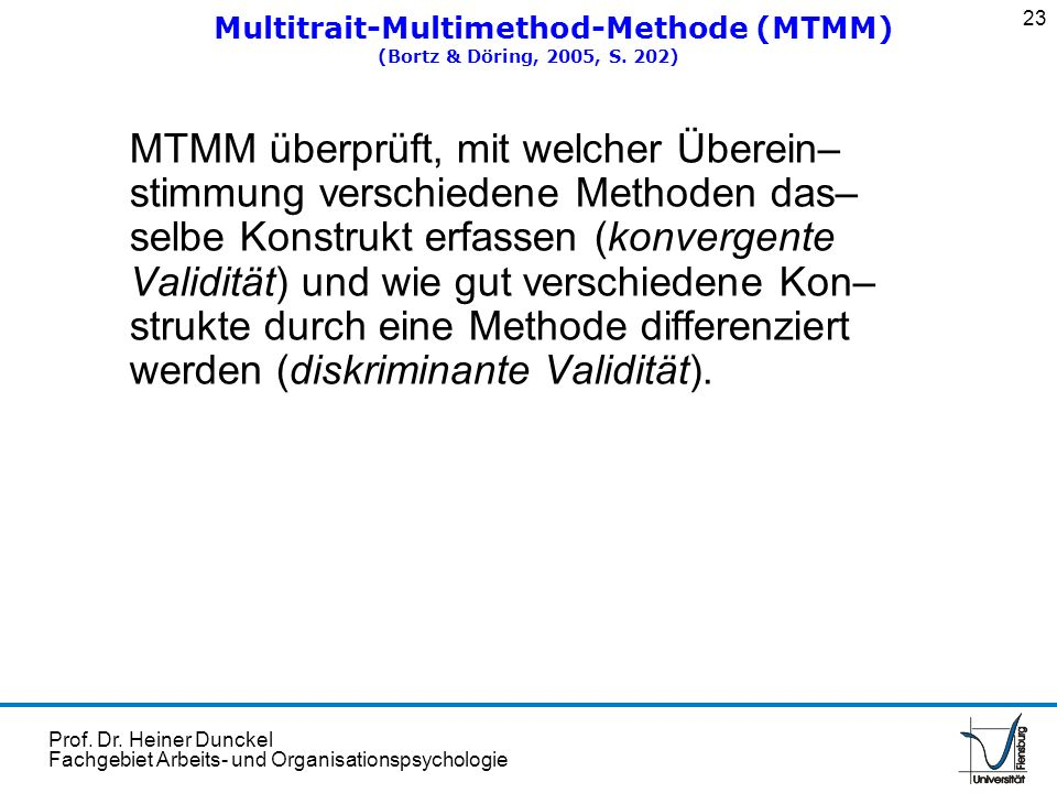 Multitrait-Multimethod-Methode (MTMM)