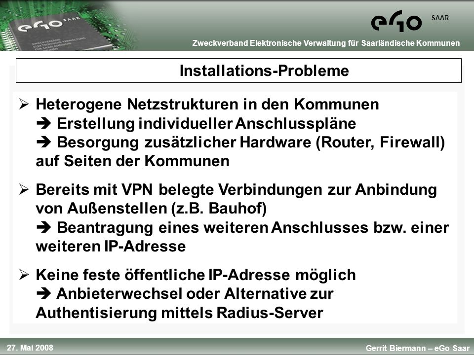 Installations-Probleme