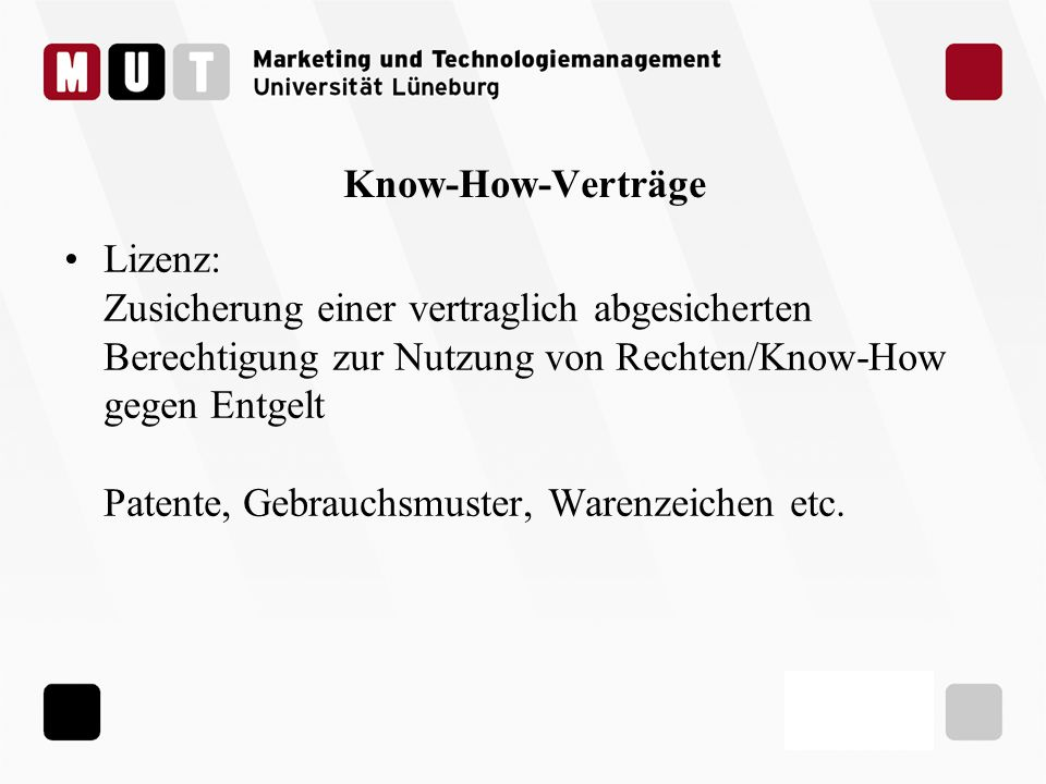 Know-How-Verträge