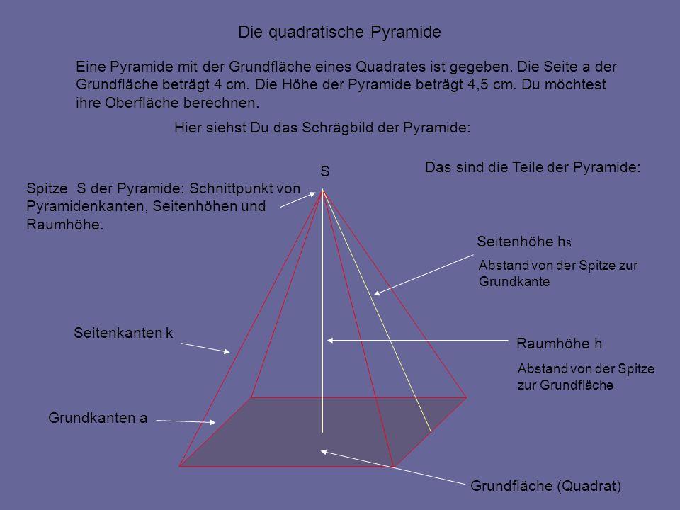 die oberfl chenberechnung der quadratischen pyramide ppt. Black Bedroom Furniture Sets. Home Design Ideas