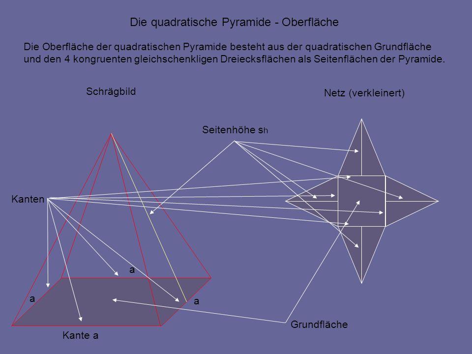 Die Oberflächenberechnung Der Quadratischen Pyramide Ppt Herunterladen