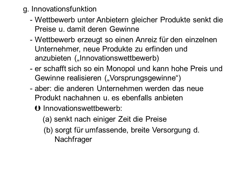 g. Innovationsfunktion