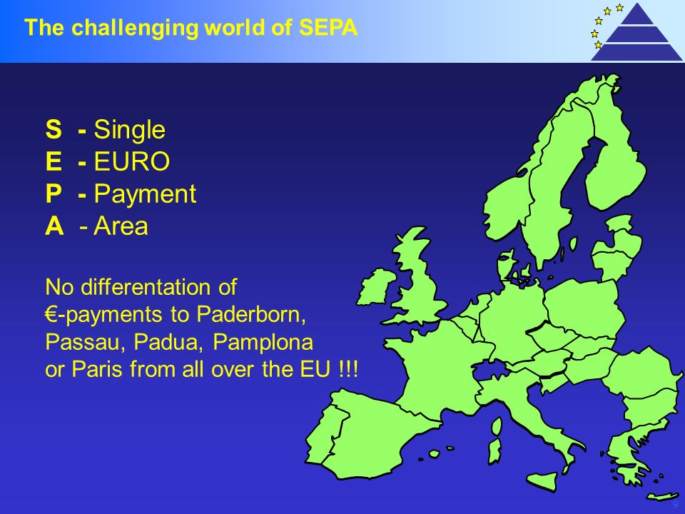 S - Single E - EURO P - Payment A - Area The challenging world of SEPA