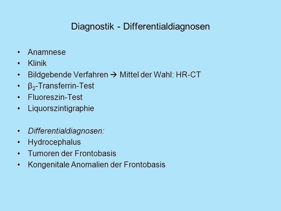 Diagnostik - Differentialdiagnosen