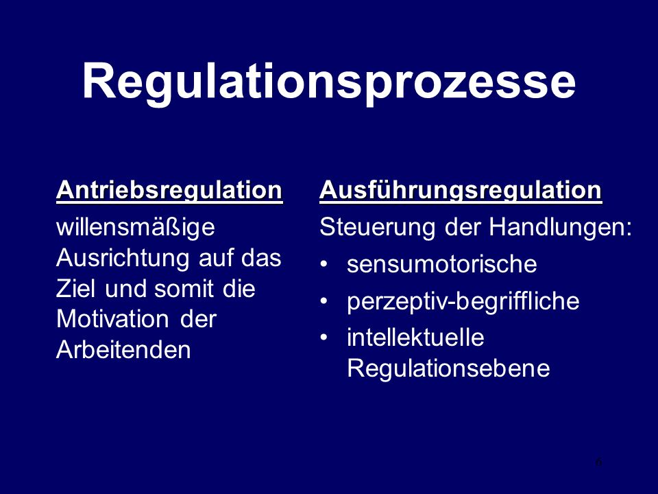 Regulationsprozesse Antriebsregulation