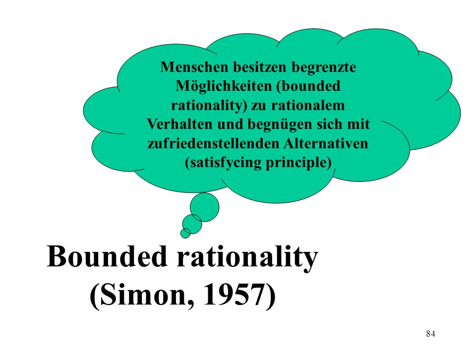 Bounded rationality (Simon, 1957)
