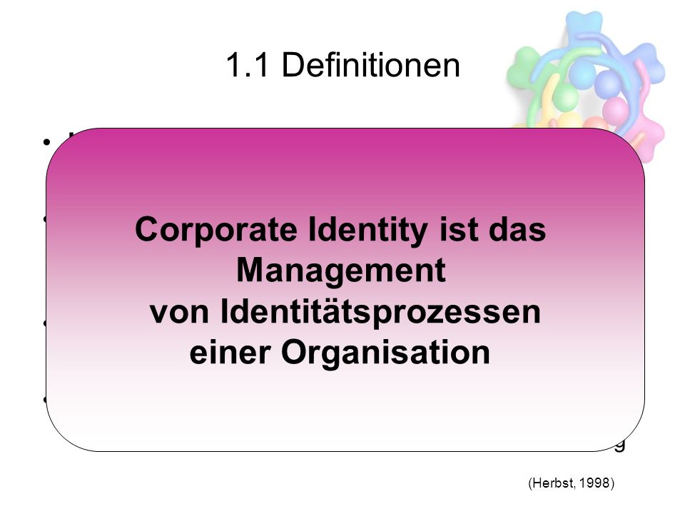 Corporate Identity ist das Management