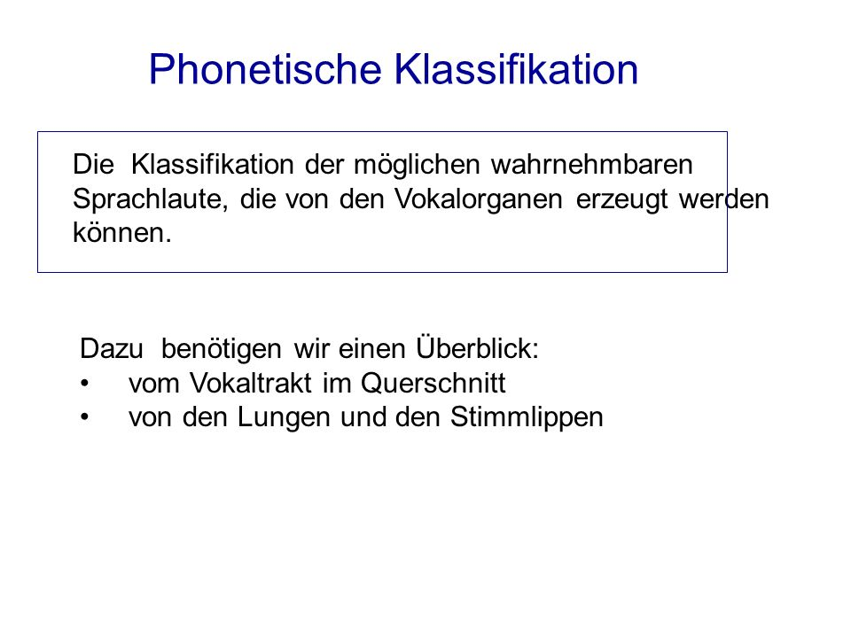 Phonetische Klassifikation