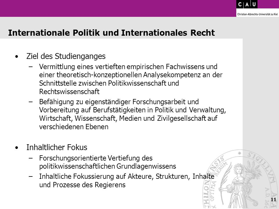 Internationale Politik und Internationales Recht