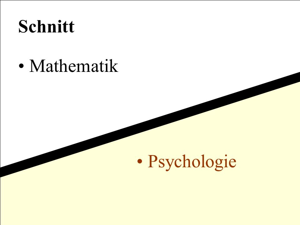 Schnitt Mathematik Psychologie