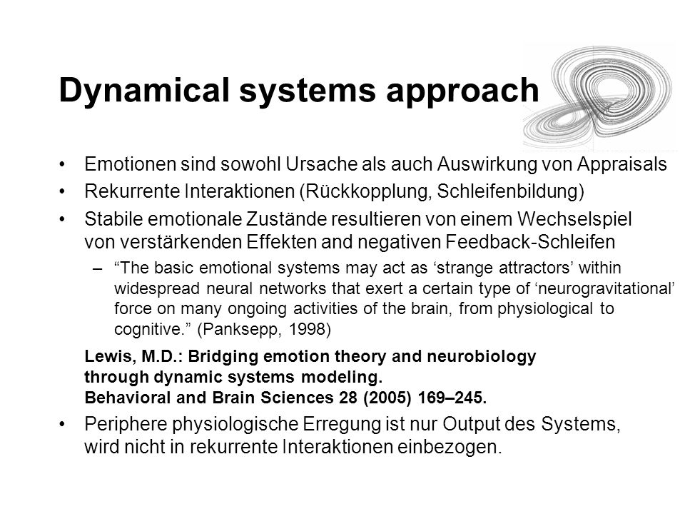 Dynamical systems approach