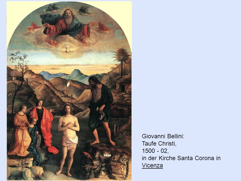 Giovanni Bellini: Taufe Christi, , in der Kirche Santa Corona in Vicenza