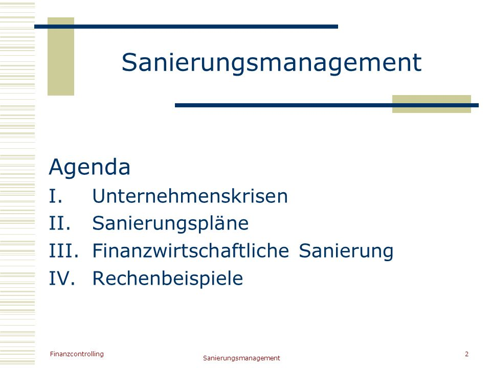 Sanierungsmanagement