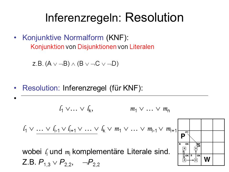 Inferenzregeln: Resolution