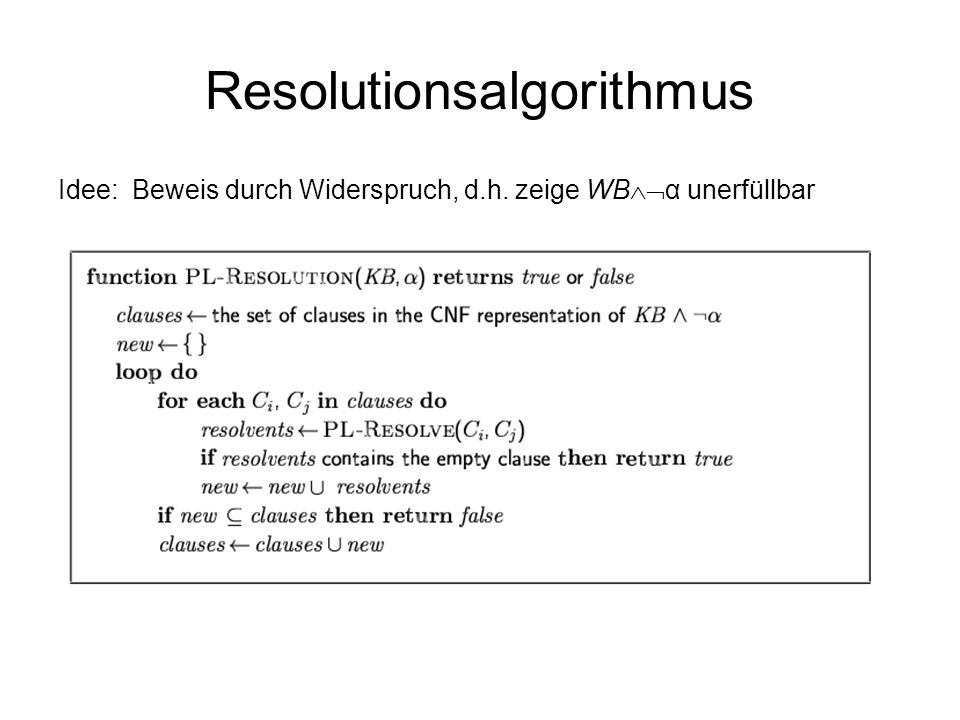 Resolutionsalgorithmus