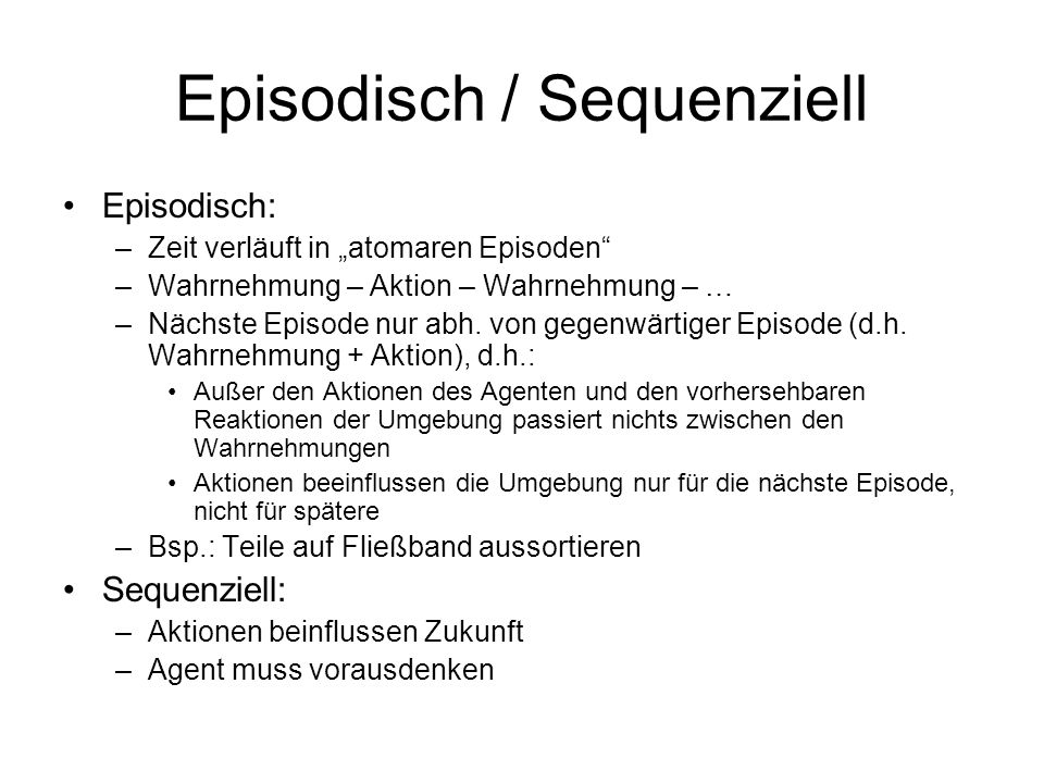 Episodisch / Sequenziell