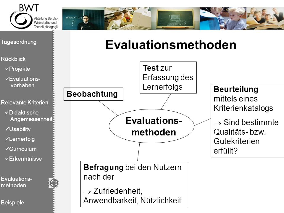 Evaluations- methoden