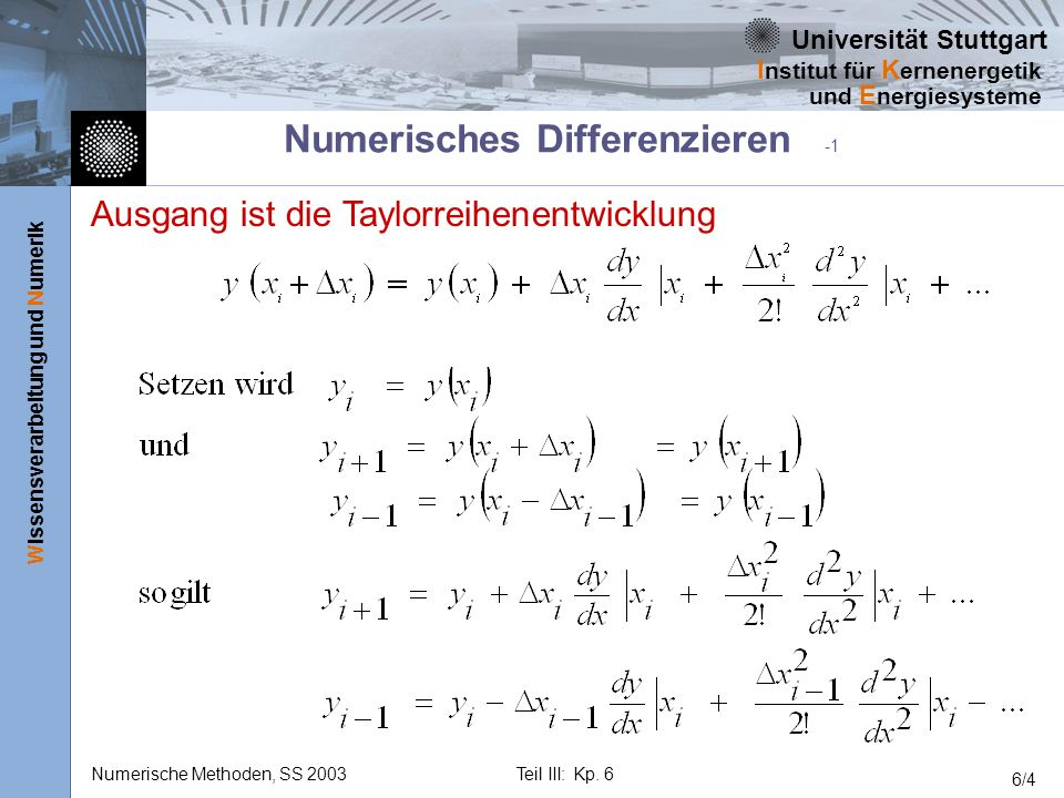 Numerisches Differenzieren -1