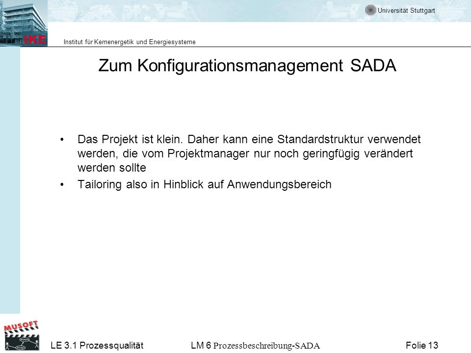 Zum Konfigurationsmanagement SADA