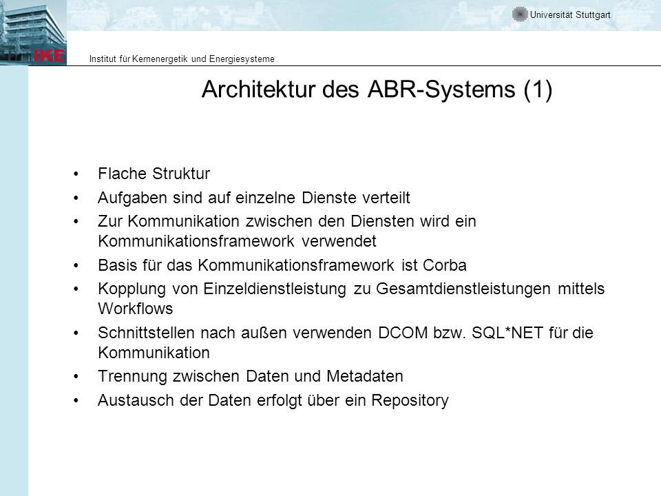Architektur des ABR-Systems (1)
