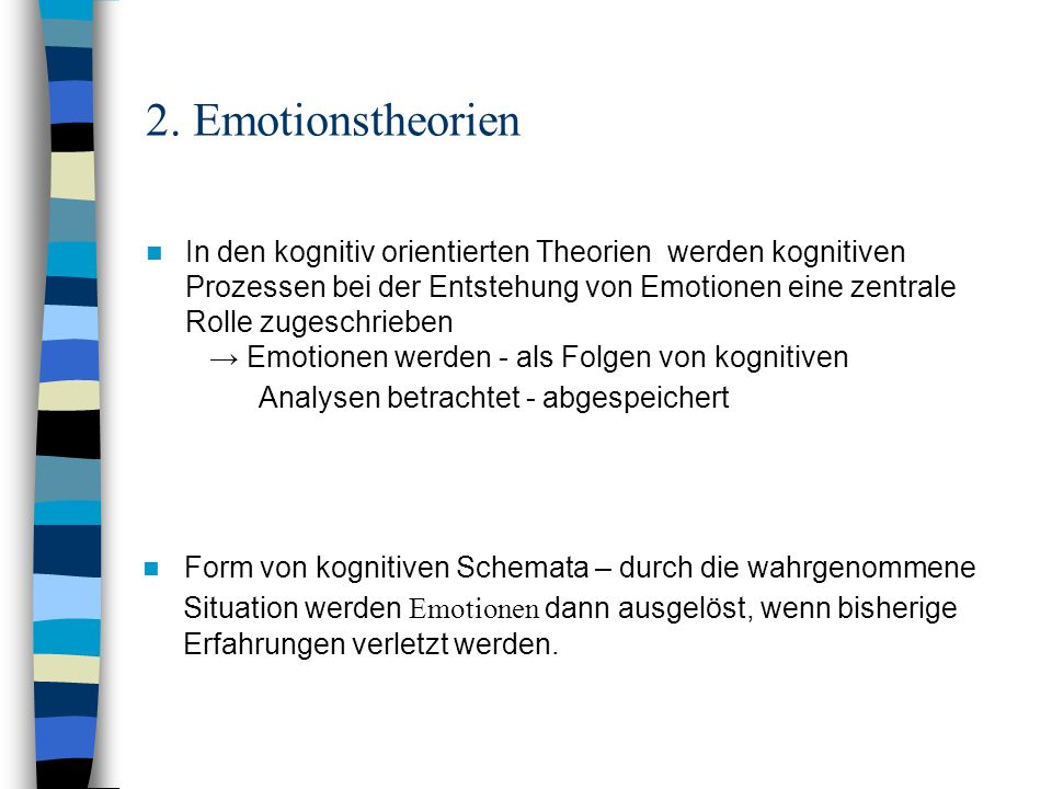 2. Emotionstheorien
