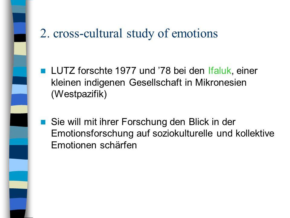 2. cross-cultural study of emotions