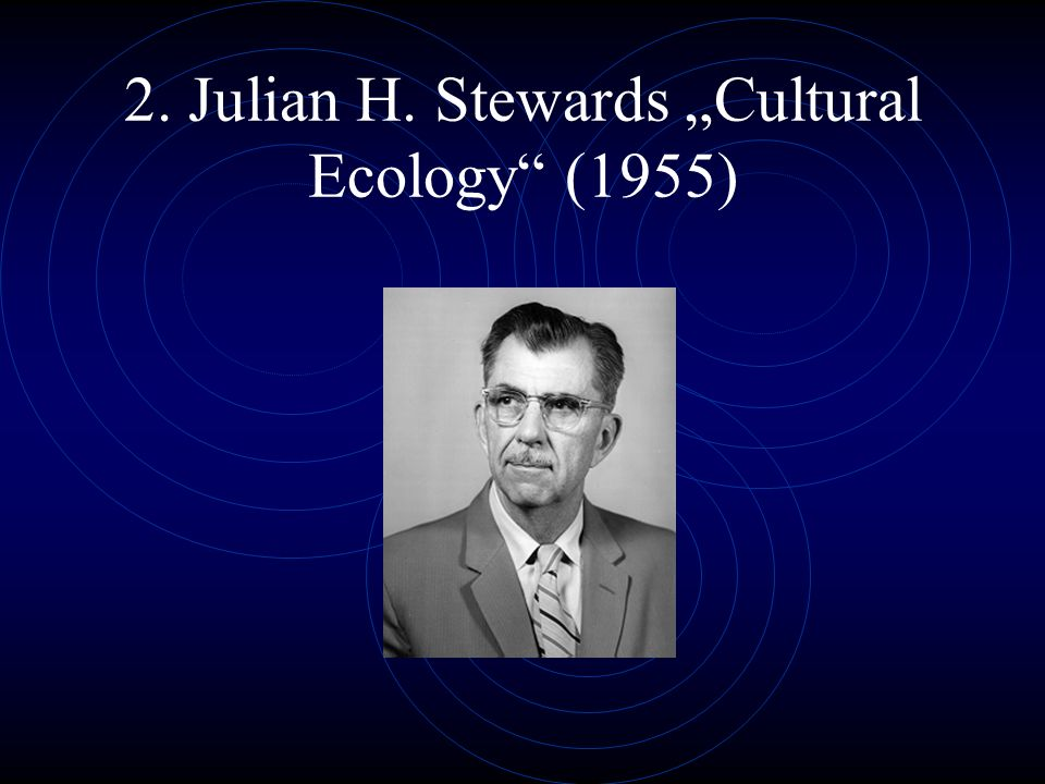 "2. Julian H. Stewards ""Cultural Ecology (1955)"