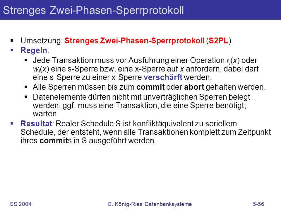 Strenges Zwei-Phasen-Sperrprotokoll