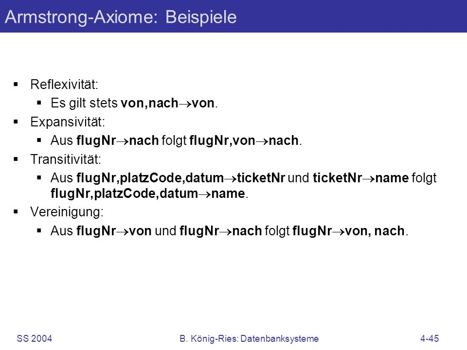 Armstrong-Axiome: Beispiele