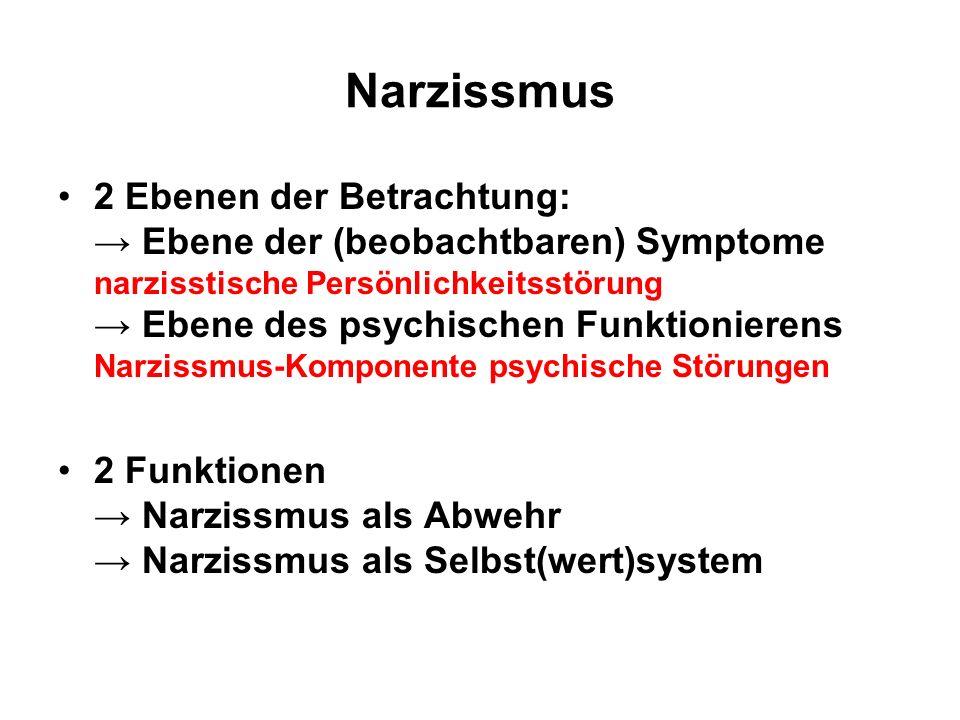 Symptome narzissmus Narzissmus: Eine