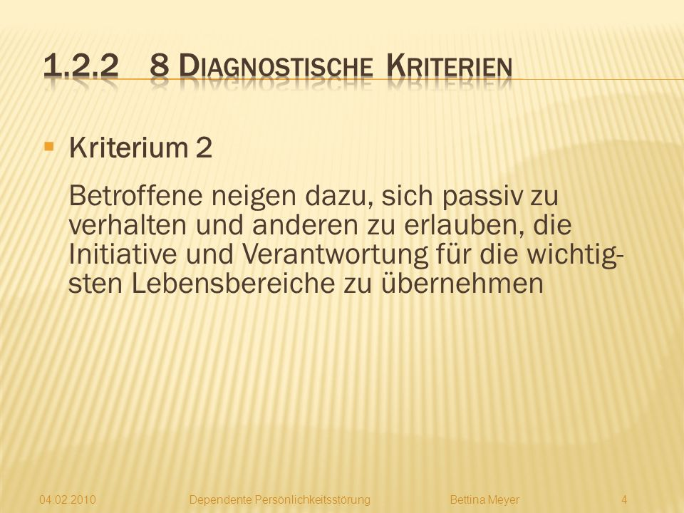 1.2.2 8 Diagnostische Kriterien