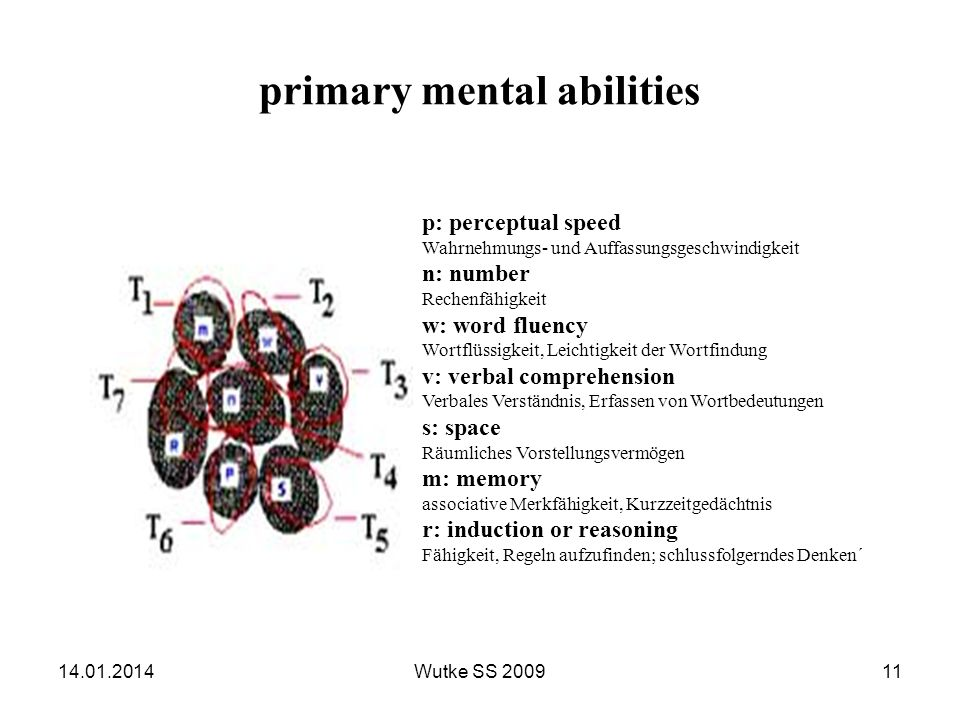 primary mental abilities