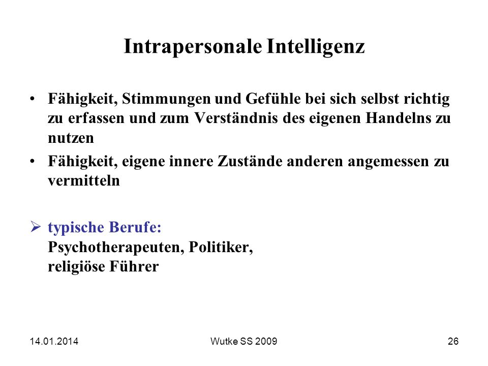 Intrapersonale Intelligenz