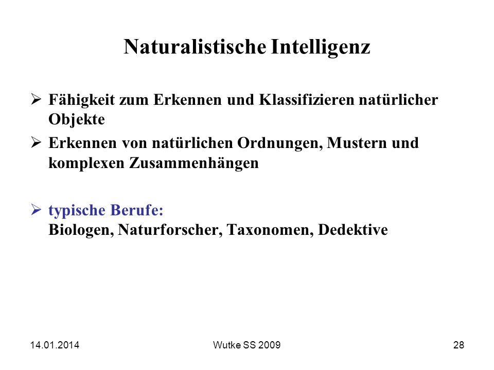 Naturalistische Intelligenz