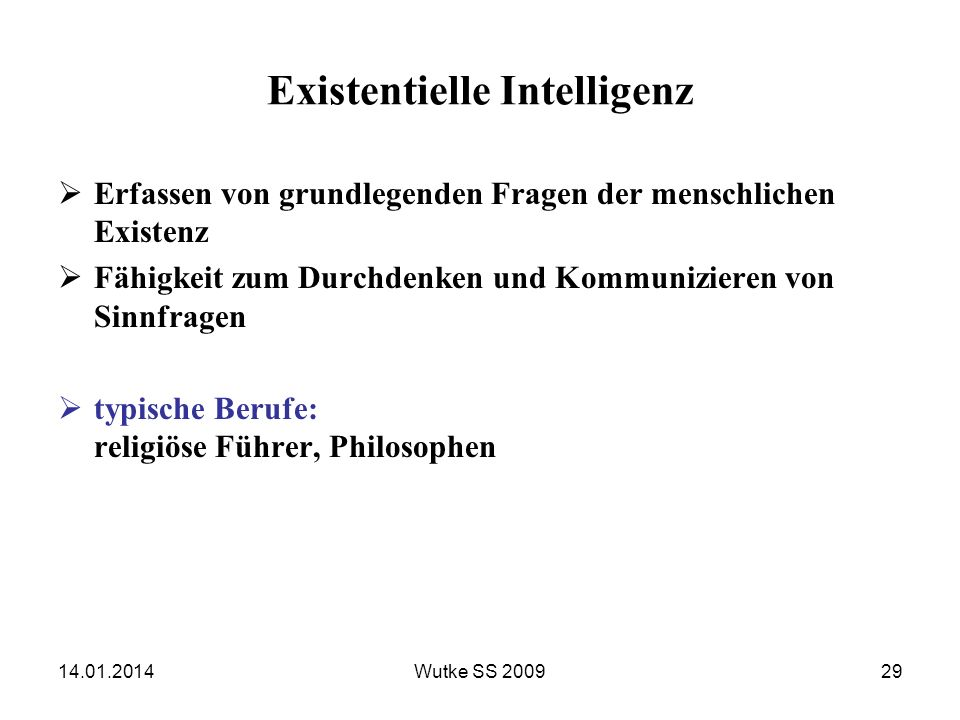Existentielle Intelligenz