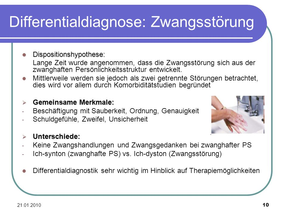 Differentialdiagnose: Zwangsstörung