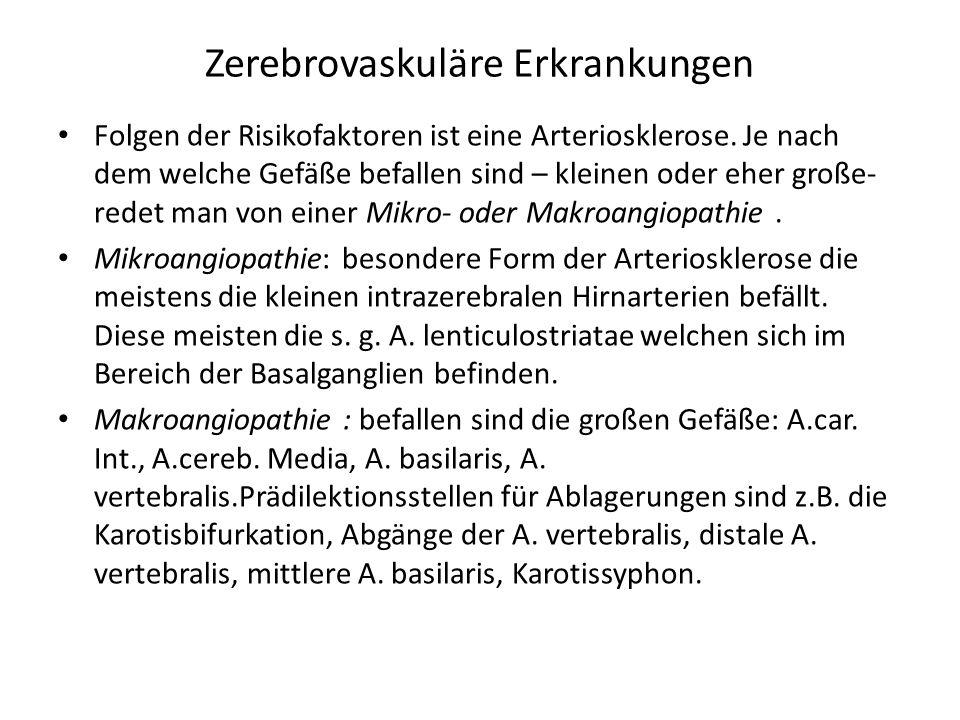 Zerebrovaskuläre Erkrankungen - ppt video online herunterladen