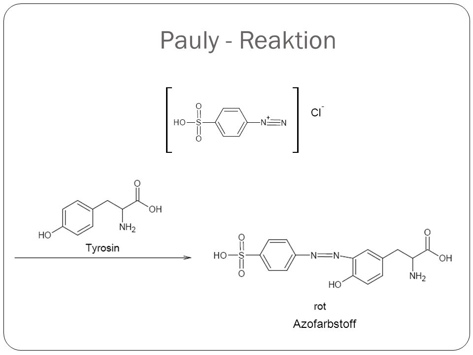 Pauly - Reaktion Azofarbstoff