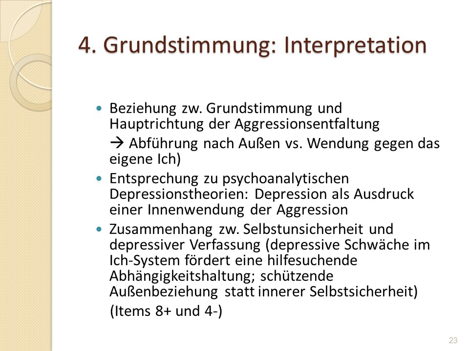 4. Grundstimmung: Interpretation