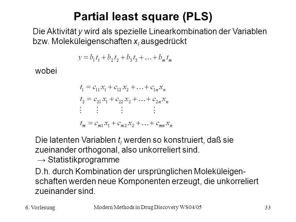 Partial least square (PLS)
