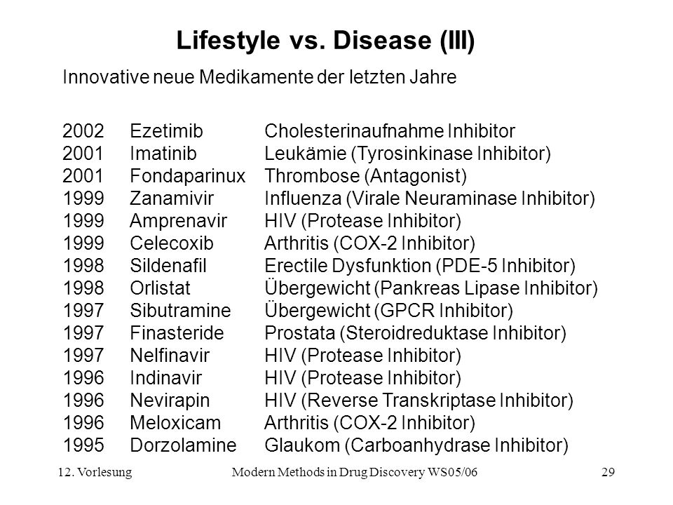 Lifestyle vs. Disease (III)