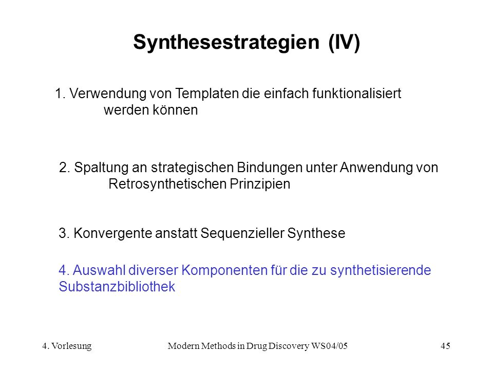 Synthesestrategien (IV)