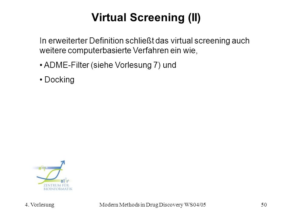 Virtual Screening (II)