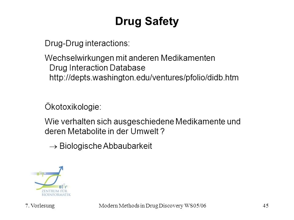 Modern Methods in Drug Discovery WS05/06