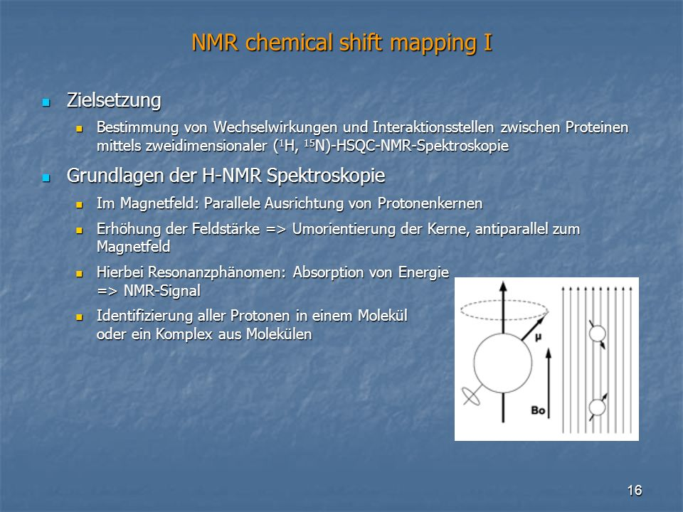 NMR chemical shift mapping I
