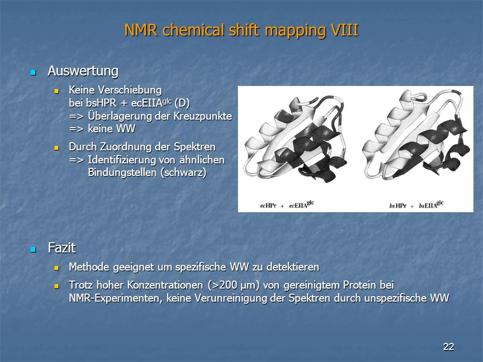 NMR chemical shift mapping VIII