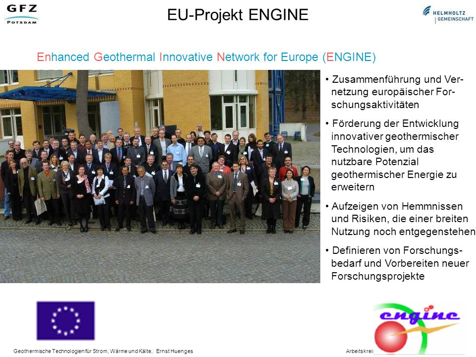 EU-Projekt ENGINE Enhanced Geothermal Innovative Network for Europe (ENGINE)