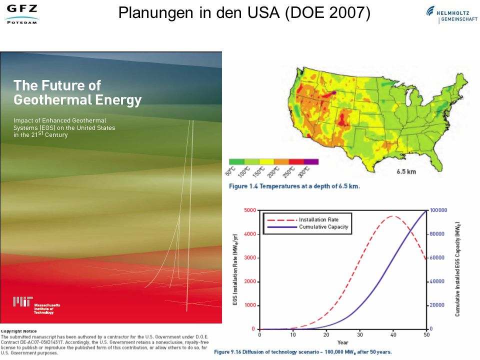Planungen in den USA (DOE 2007)