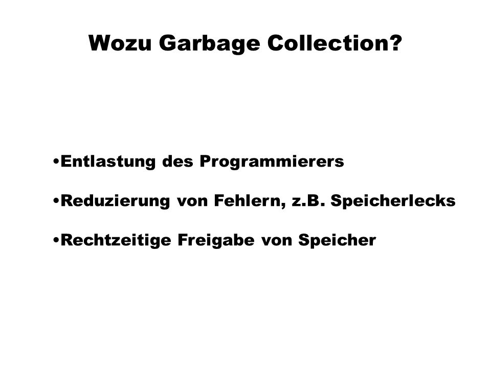Wozu Garbage Collection