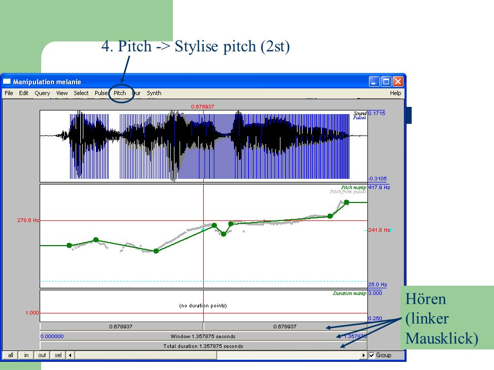 4. Pitch -> Stylise pitch (2st)
